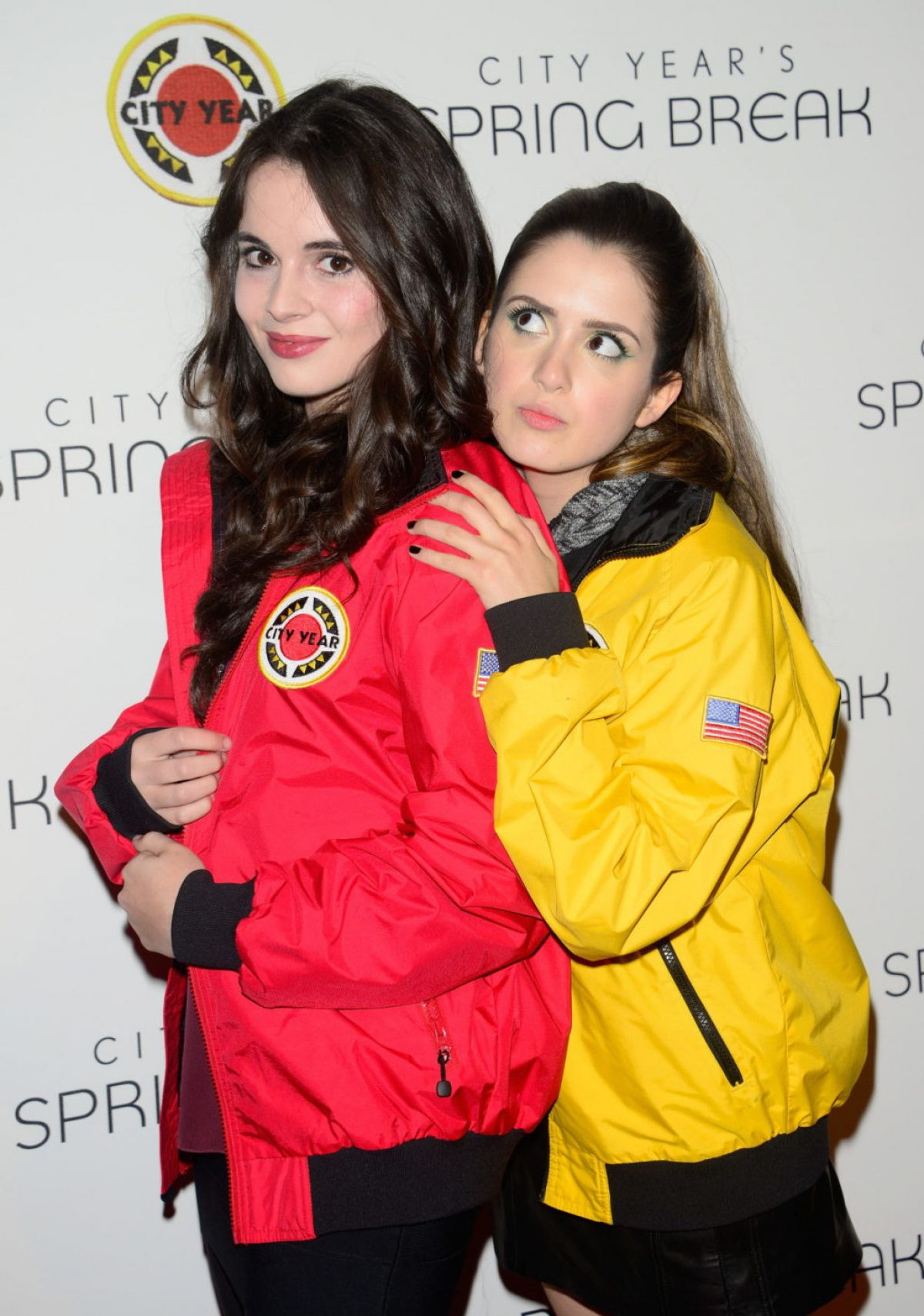VANESSA and LAURA MARANO at City Year Los Angeles Spring Break in Los Angeles