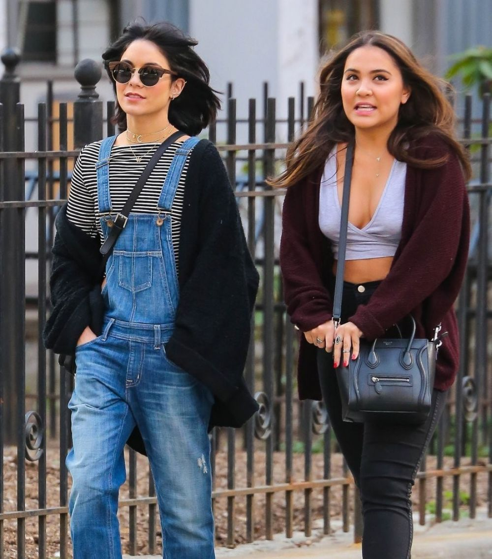 VANESSA and STELLA HUDGENS Out and About in New York