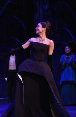 VANESSA HUDGENS at Curtain Call at Gigi Broadway Opening Night in New York