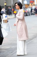 VANESSA HUDGENS Outside Her Play Gigi on Broadway in New York