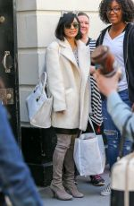 VANESSA HUDGENS Waring Cat Eats Out in New York