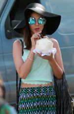VICTORIA JUSTICE Out Shopping at Melrose Trading Post Flea Market in Los Angeles