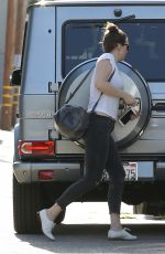 WHITNEY CUMMING Arrives at a Gym in Hollywood