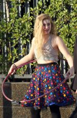 WILLOW SHIELDS on the Set of DWTS Commercial in Hollywood