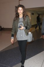 ZENDAYA COLEMAN Arrives at LAX Airport in Los Angeles
