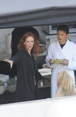 ZENDAYA COLEMAN on the Set of Bad Blood Music Video in Los Angeles