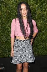 ZOE KRAVITZ at Chanel Dinner at Tribeca Film Festival in New York