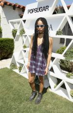 ZOE KRAVITZ at Popsuga + Shopstyle's Cabana Club Pool Parties in Palm Springs