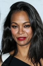 ZOE SALDANA at Samsung Galaxy S6 and Galaxy S6 Edge Launch in Los Angeles
