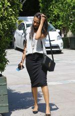 ZOE SALDANA Leaves Ago Restaurant in West Hollywood