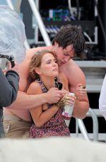 ZOEY DEUTCH on the Set of Dirty Grandpa on Tybee Island 04/28/2015
