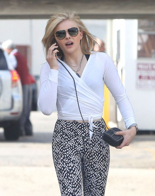 CHLOE MORETZ Out and About in Los Angeles
