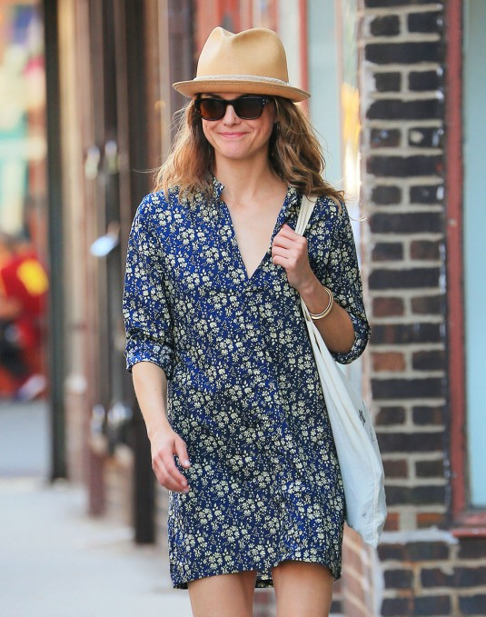 KERI RUSSELL Out Shopping in New York