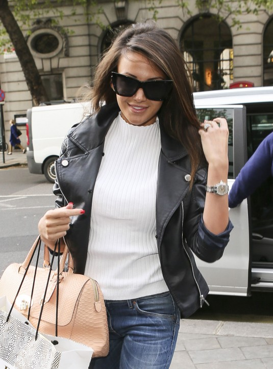 MICHELLE KEEGAN Arrives at a Hotel in London