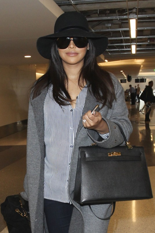 NAYA RIVERA Arrives at LAX Airport in Los Angeles