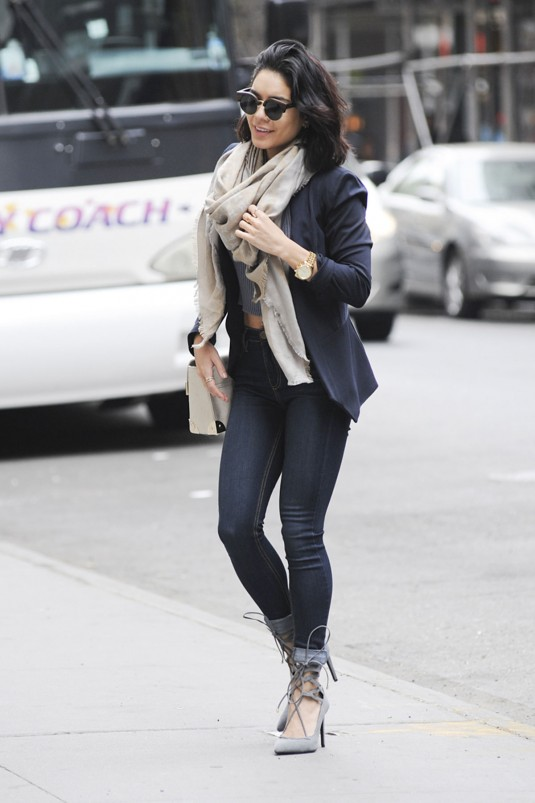 VANESSA HUDGENS in Tight Jeans Out in New York