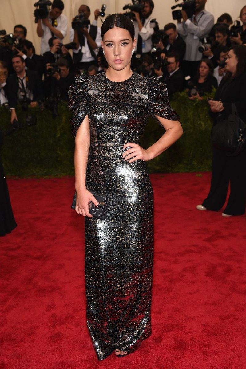 ADELE EXARCHOPOULOS at MET Gala 2015 in New York