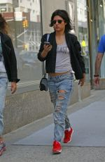 ADELE EXARCHOPOULOS in Ripped Jeans Out in New York 05/03/2015