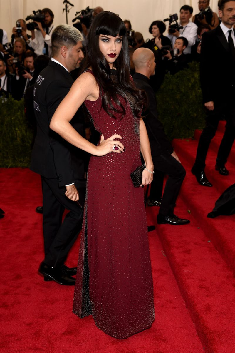 ADRIANA LIMA at MET Gala 2015 in New York