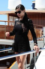 ADRIANA LIMA Leaves a Yacht in Cannes 05/20/2015