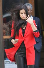 ADRIANA LIMA on the Set of Photoshoot for Maybelline in New York