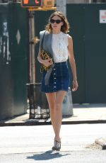 ALEXA CHUNG in Short Skirt Out in New York 05/08/2015