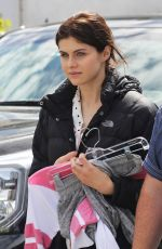 ALEXANDRA DADDARIO on the Set of The Layover in Vancouver 04/29/2015