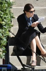 ALEXANDRA DADDARIO on the Set of The Layover in Vancouver 05/08/2015