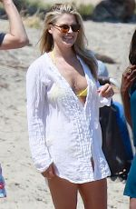 ALI LARTER in Bikini Top at a Beach in Malibu 05/24/2015