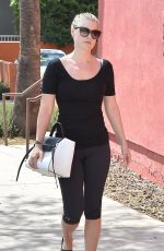 ALI LARTER in Leggings Out and About in Los Angeles 04/30/2015