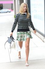 ALI LARTER in Short Skirt Out Shopping at Melrose Place in Los Angeles 05/27/2015