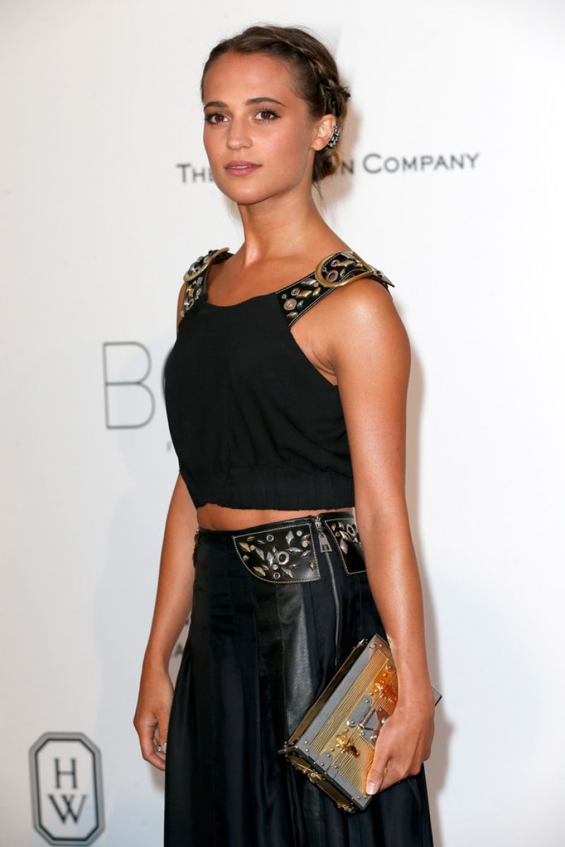 ALICIA VIKANDER at Amfar's 2015 Cinema Against Aids Gala in Cap d'Antibes
