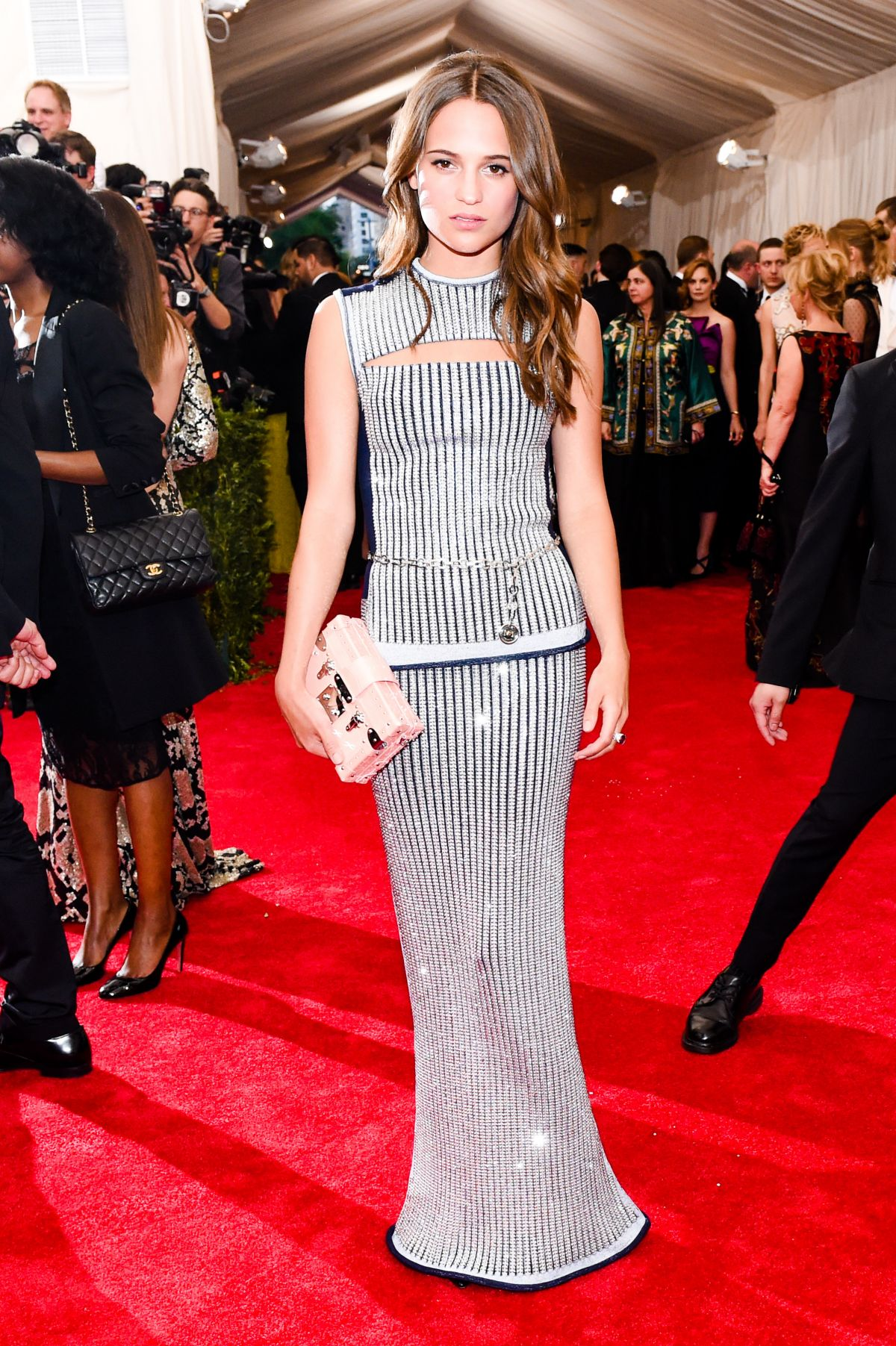 ALICIA VIKANDER at MET Gala 2015 in New York