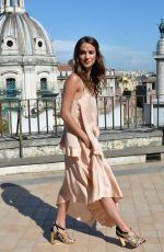 ALICIA VIKANDER at The Man from U.N.C.L.E. Photocall at Terrazza Civita in Rome