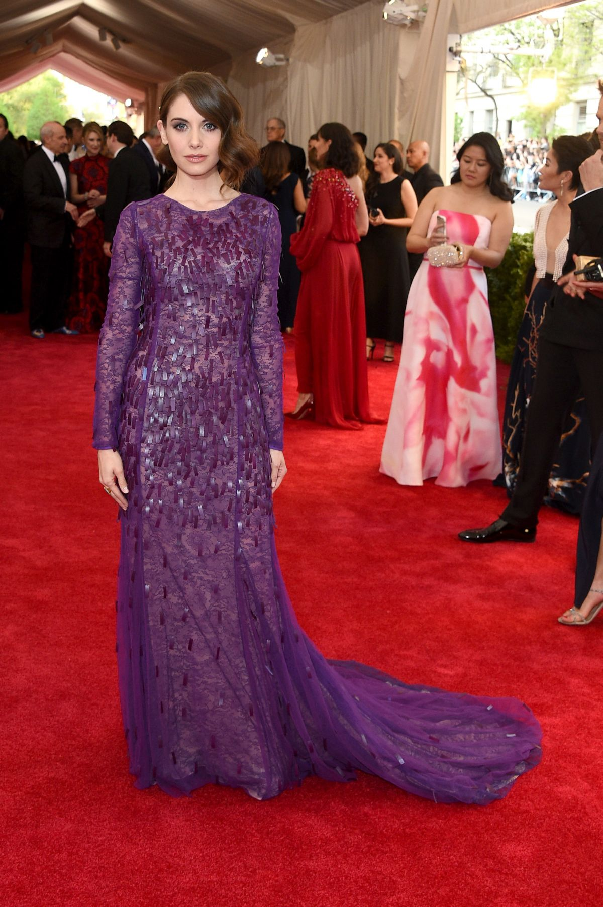 ALISON BRIE at MET Gala 2015 in New York