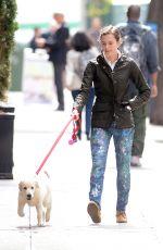 ALLISON WILLIAMS Walks Her Dog in New York