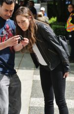 ALYCIA DEBNAM CAREY on the Set of Fear the Walking Dead in Vancouver 05/10/2015