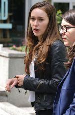 ALYCIA DEBNAM CAREY on the Set of Fear the Walking Dead in Vancouver 05/10/2015