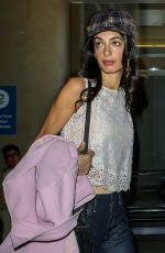 AMAL CLOONEY at LAX Aairport in Los Angeles 05/11/2015