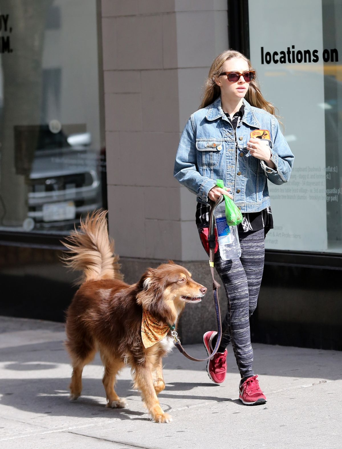 AMANDA SEYFRIED and Finn Out in New York 04/30/2015