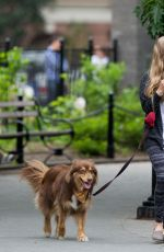 AMANDA SEYFRIED Out with Her Dog Finn in New York 05/18/2015