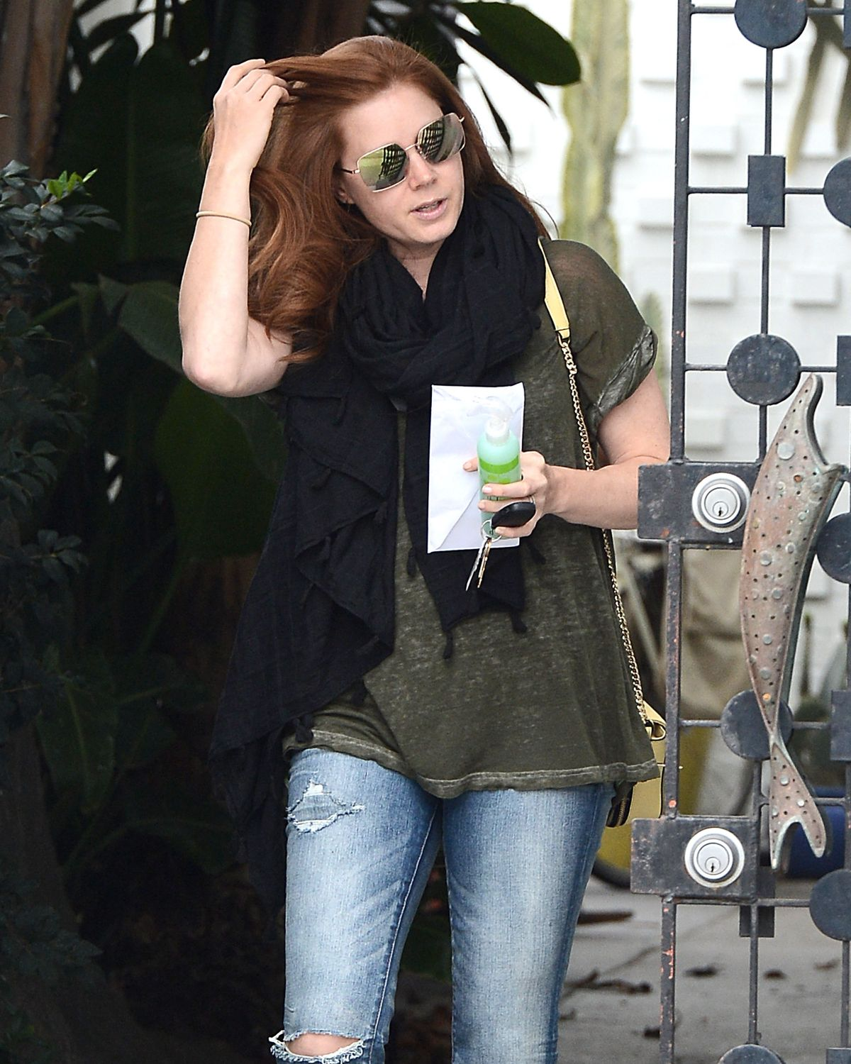 AMY ADAMS Leaves Balayage Salon in Los Angeles 05/26/2015
