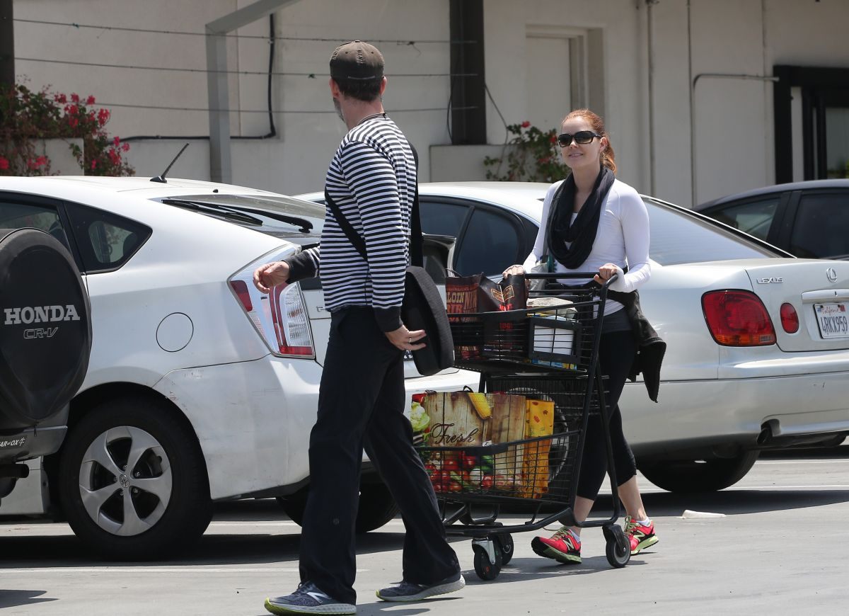 AMY ADAMS Out for Grocery Shopping in Los Angeles 05/29/2015