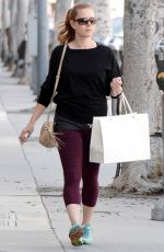 AMY ADAMS Out Shopping in Los Angeles 04/30/2015