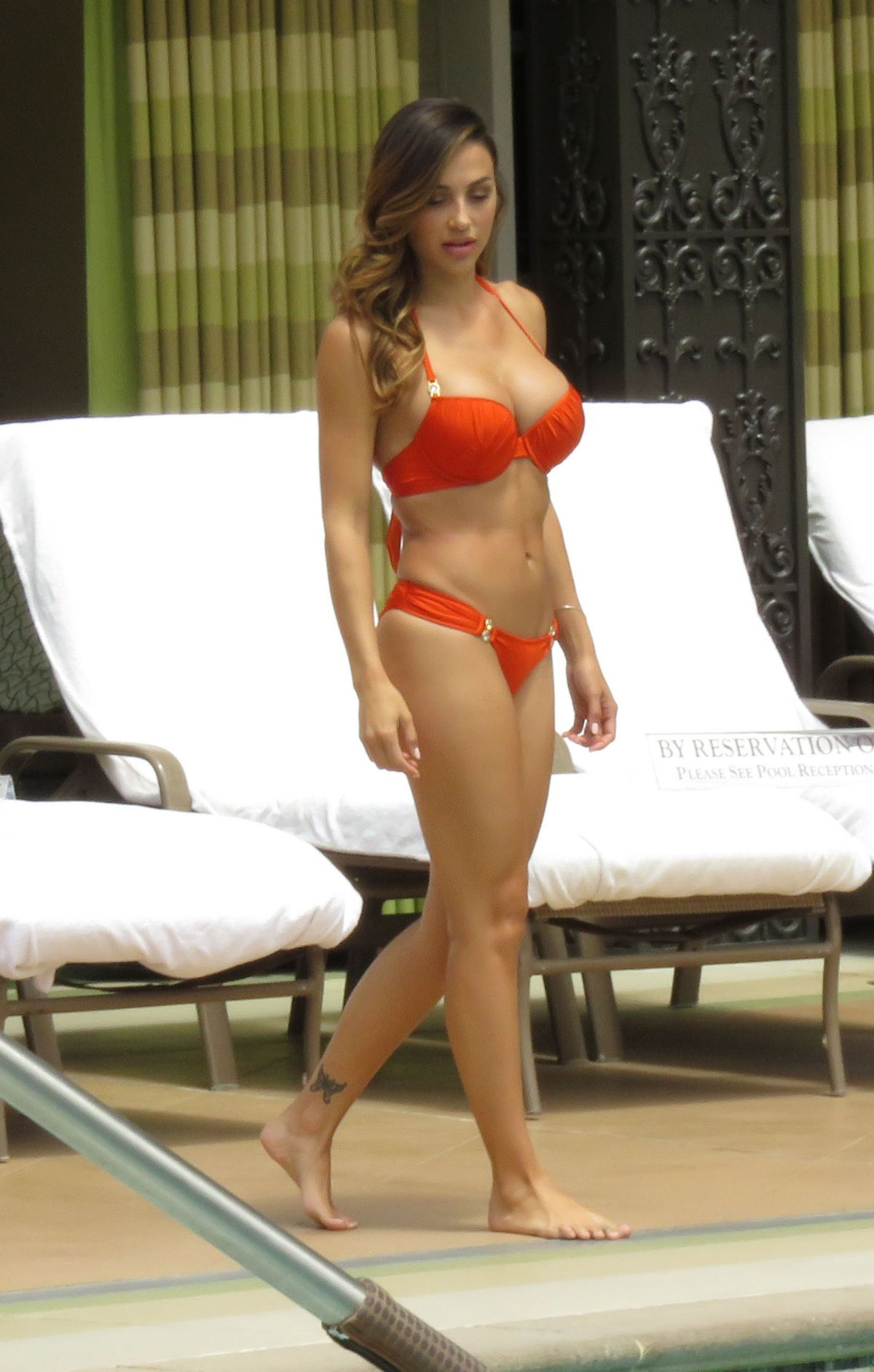 ANA CHERI in Red Bikini at the Pool in Las Vegas 05/23/2015