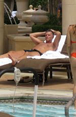 ANA CHERI in Red Bikini at the Pool in Las Vegas 05/23/2015
