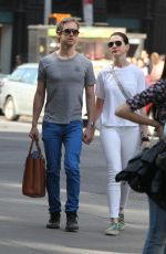 ANNE HATHAWAY and Adam Shulman Out and Abou in New York 05/03/2015