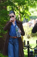 ANNE HATHAWAY and Adam Shulman Out and About in New York 05/23/2015