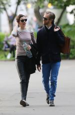 ANNE HATHAWAY and Adam Shulman Out in New York 05/22/2015
