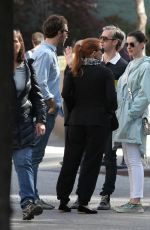 ANNE HATHAWAY and JESSICA CHASTAIN Out in New York